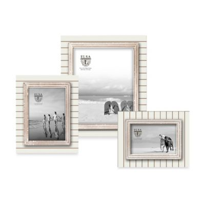 Elsa L Coastal 4-Inch x 6-Inch Picture Frame in White