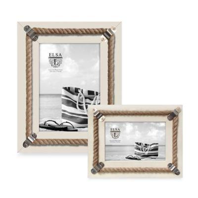 Elsa L Coastal 5-Inch x 7-Inch Rope Picture Frame