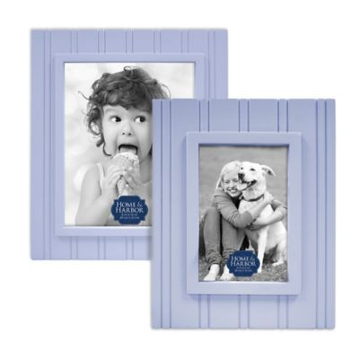Home & Harbor Wainscot 4-Inch x 6-Inch Wood Picture Frame in Blue