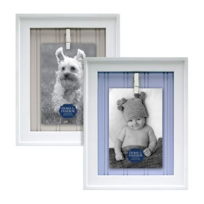 Home & Harbor 4-Inch x 6-Inch Clip Picture Frame in Blue