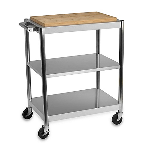 International Silver Stainless Steel Rolling Kitchen Cart