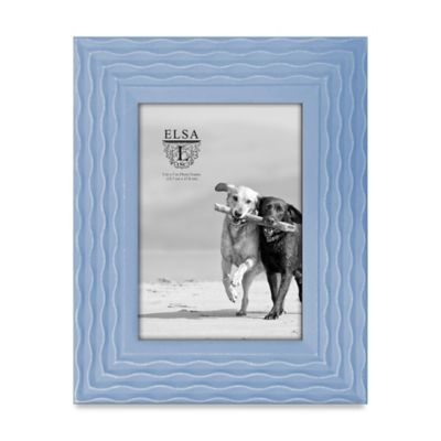 Elsa L Coastal 5-Inch x 7-Inch Waved Frame in Blue