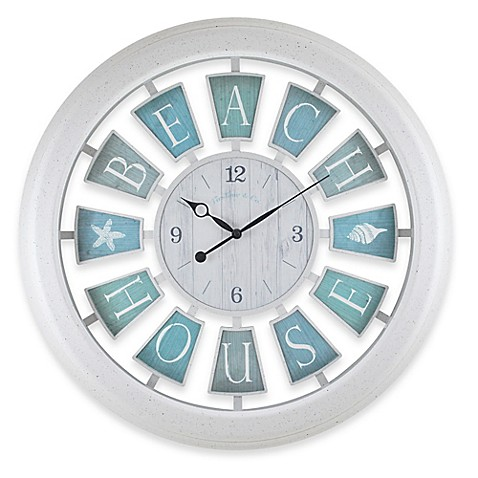 Firstime 174 Beach House Wall Clock Bed Bath Amp Beyond