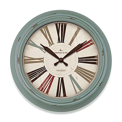 Firstime 174 Relic Wall Clock In Teal Bed Bath Amp Beyond