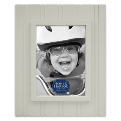 Home & Harbor Wainscot 5-Inch x 7-Inch Wood Picture Frame in Taupe