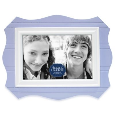 Home & Harbor Wainscot 4-Inch x 6-Inch Scalloped Picture Frame in Blue