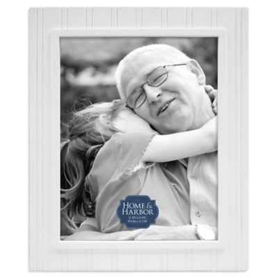 Home & Harbor Wainscot 11-Inch x 14-Inch Wood Picture Frame in White
