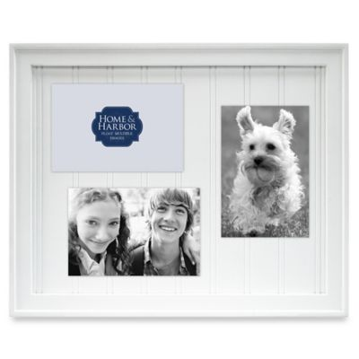 Home & Harbor Wainscot Float Collage Frame in White