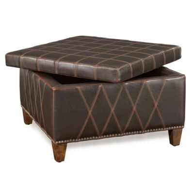 Uttermost Wattley Double-Stitched Storage Ottoman