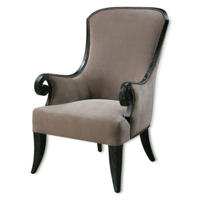 Uttermost Kandy Armchair in Taupe