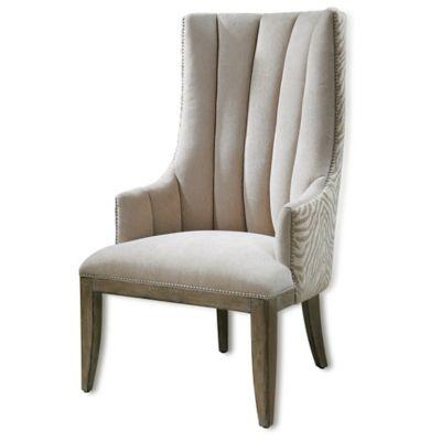 Uttermost Zyla Chenille Armchair in Almond Beige