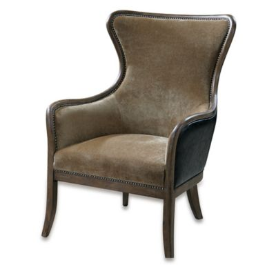 Wing Chair in Tan