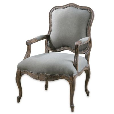 Uttermost Willa Armchair in Steel Grey