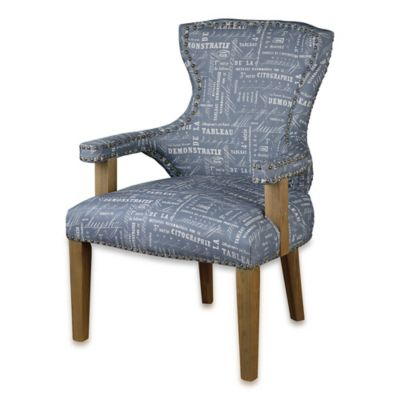 Uttermost Citographie Armchair with Grey Linen