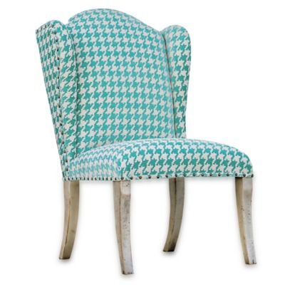 Uttermost Winesett Armless Chair in Blue/Ivory