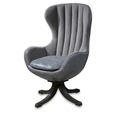Uttermost Linford Swivel Chair in Grey