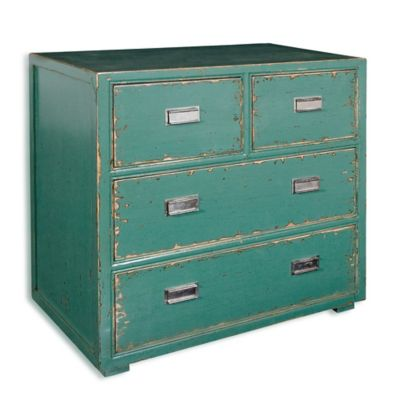 Uttermost Aquias Hand-Painted 4-Drawer Accent Chest
