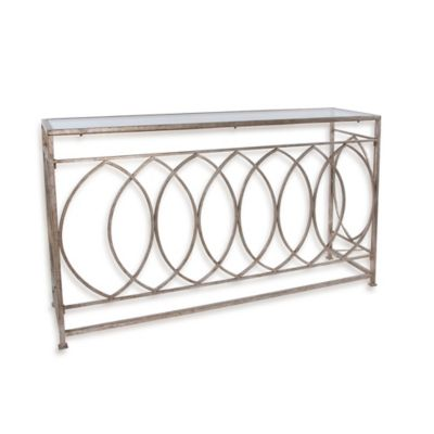 Uttermost Aniya Glass-Top Console Table