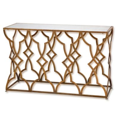 Uttermost Osea Console Table in Gold