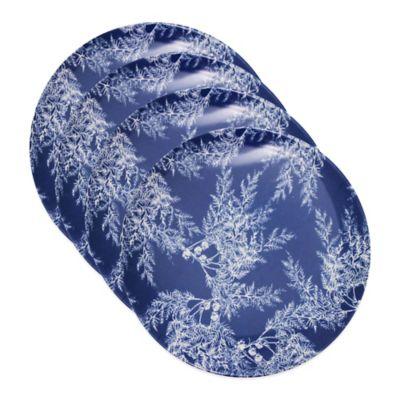 Caskata Studio Cedar Blue Melamine Canape Plates (Set of 4)
