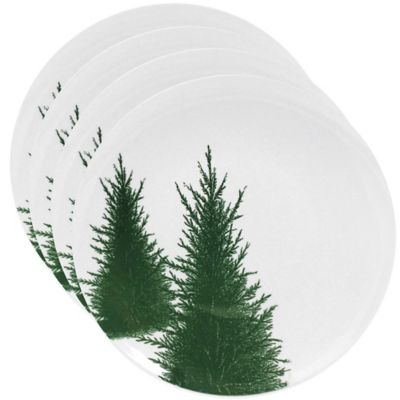 Caskata Studio Conifer Melamine Canape Plates (Set of 4)