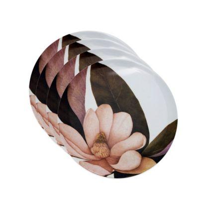 Caskata Studio Magnolia 4-Piece Tidbit Topper Plate Set