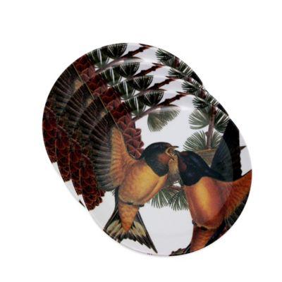 Caskata Studio Pine Birds Melamine Tidbit Toppers (Set of 4)