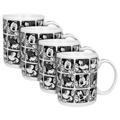 Disney® Mickey Grid Mugs in Black/White