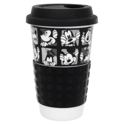 Zrike Disney® Mickey Grid Single Wall Travel Mug in Black/White
