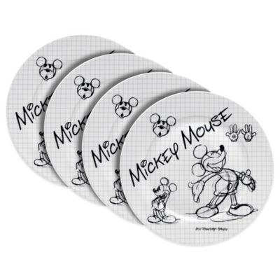Zrike Disney® Mickey Sketchbook Salad Plates (Set of 4)