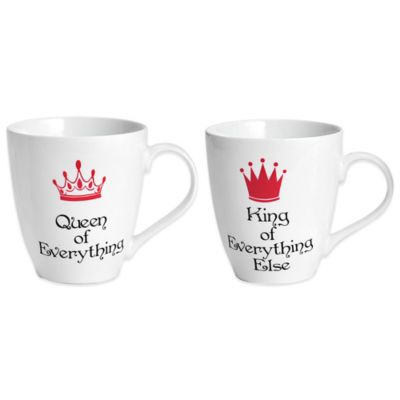 Pfaltzgraff® King and Queen of Everything Mugs (Set of 2)