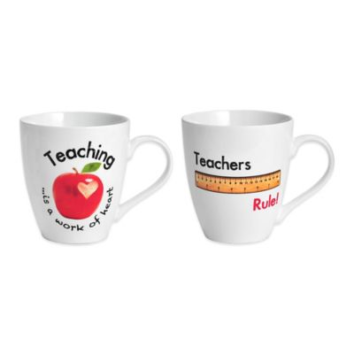 Pfaltzgraff® Teachers Rule Mugs (Set of 2)