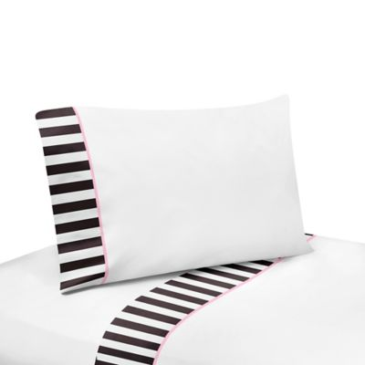 Sweet Jojo Designs Paris Twin Sheet Set