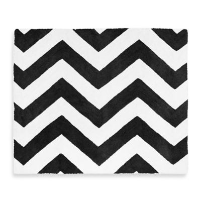 Sweet Jojo Designs Chevron Rug in Black and White