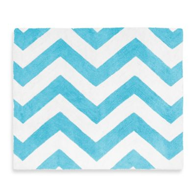 Chevron Turquoise and White Bedding
