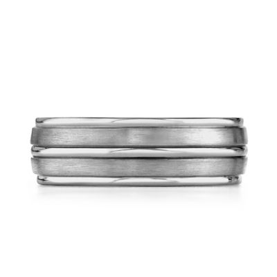 Titanium High-Polished Trim Size 6.5 Men's Comfort-Fit Wedding Band