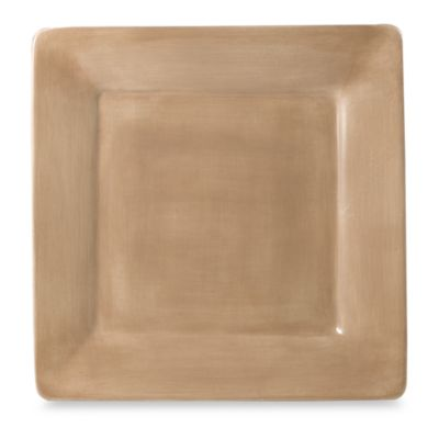 Tabletops Unlimited® Misto 10 1/2-Inch Square Dinner Plate in Light Taupe