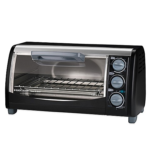 Black Amp Decker 174 4 Slice Toaster Oven Bed Bath Amp Beyond