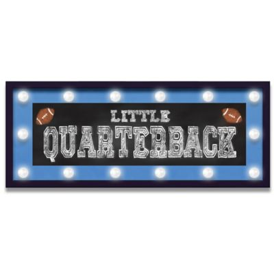 "Design House LA ""Little Quarterback"" Framed Light-Up Sign"