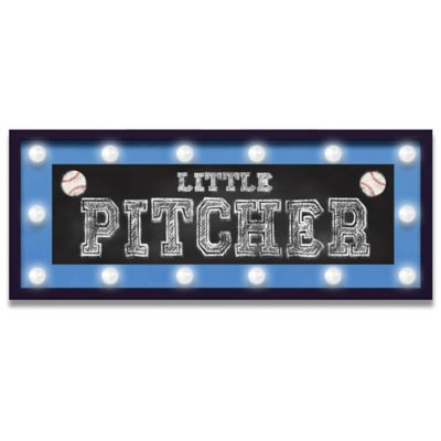 "Design House LA ""Little Pitcher"" Framed Light-Up Sign"