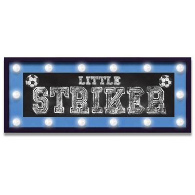 "Design House LA ""Little Striker"" Framed Light-Up Sign"