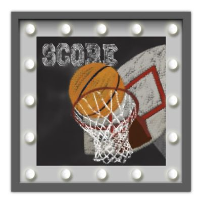 "Design House LA ""Score"" Framed Basketball Light-Up Sign"