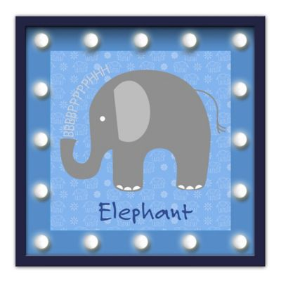 Design House LA Framed Elephant Light-Up Sign