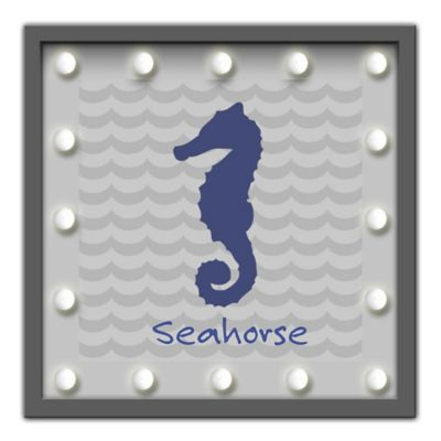 Framed Seahorse Light-Up Sign
