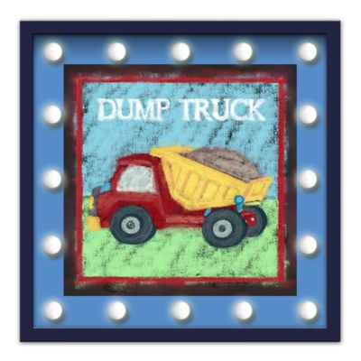 Design House LA Framed Dump Truck Light-Up Sign