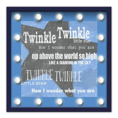 Design House LA Framed Twinkle Twinkle Little Star Nursery Rhyme Light-Up Sign