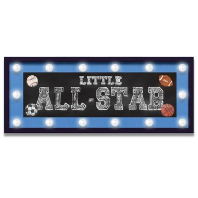 "Design House LA Framed ""Little All-Star"" Light-Up Sign"