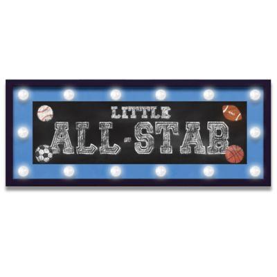 """Framed Little All-Star"""" Light-Up Sign"""