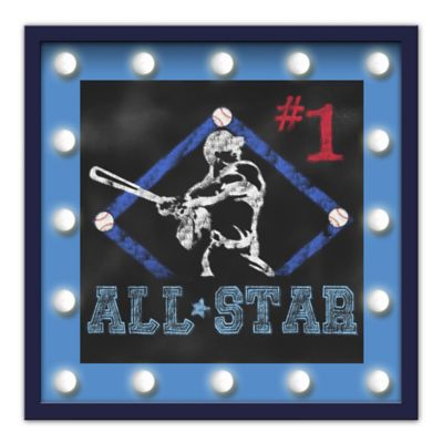 "Design House LA Framed ""#1 All-Star"" Light-Up Sign"