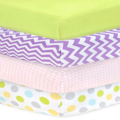 Carter's® Mix & Match Chevron Sateen Fitted Crib Sheet in Lilac